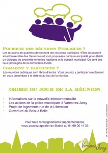 reunion publique flyer