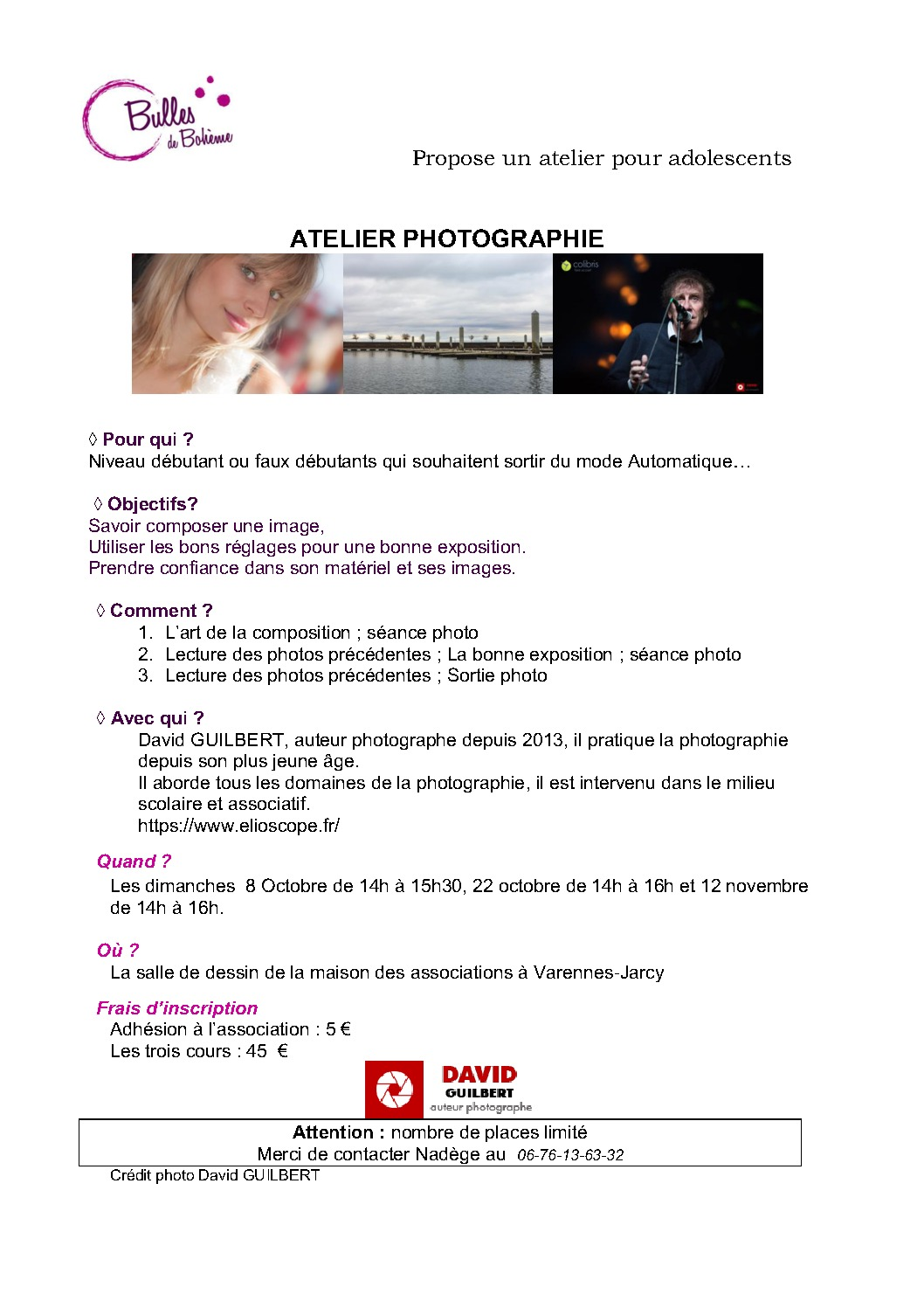 thumbnail of atelier photographie