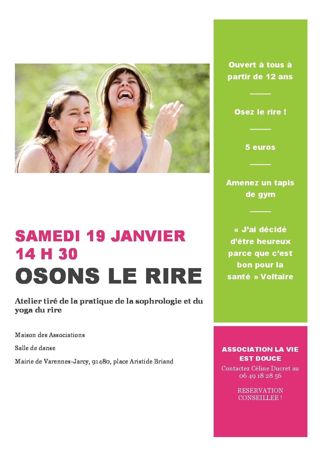 thumbnail of Affiche osons le rire